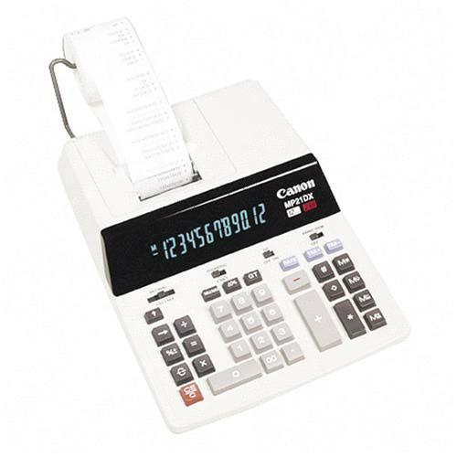 Canon 12-Digit 2-Color Print Calculator MP21DX CNMMP21DX