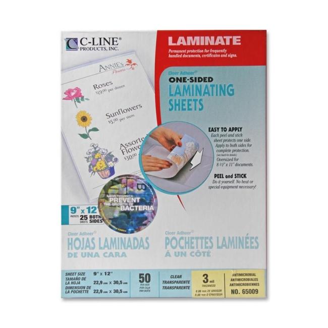 C-Line Cleer Adheer Antimicrobial 65009 CLI65009