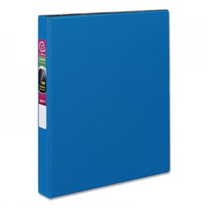 "Avery Durable Non-View Binder with DuraHinge and Slant Rings, 3 Rings, 1"" Capacity, 11 x 8.5, Blue AVE27251"