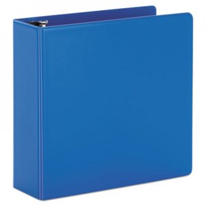 "Cardinal SuperStrength Locking Slant-D Ring Binder, 3 Rings, 4"" Capacity, 11 x 8.5, Blue CRD11842 11842V3"