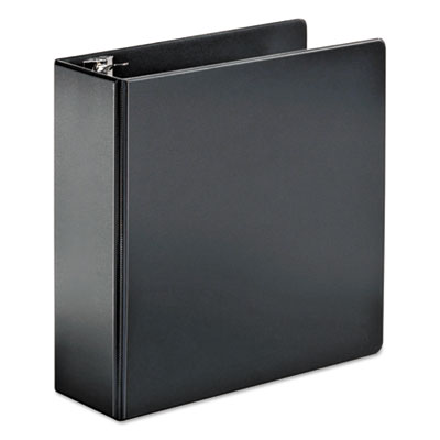 "Cardinal SuperStrength Locking Slant-D Ring Binder, 3 Rings, 4"" Capacity, 11 x 8.5, Black CRD11832 11832V3"