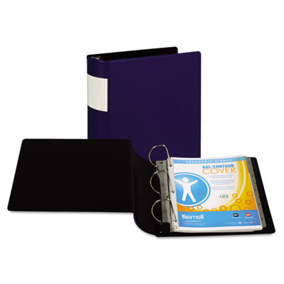 "Samsill DXL Heavy-Duty Locking D-Ring Binder With Label Holder, 4"" Cap, Dark Blue SAM17692 17692"
