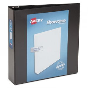 "Avery Showcase Economy View Binder with Round Rings, 3 Rings, 2"" Capacity, 11 x 8.5, Black AVE19700 19700"