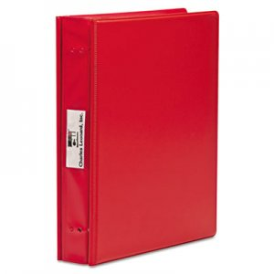 "Charles Leonard VariCap Expandable Binder, 2 Posts, 6"" Capacity, 11 x 8.5, Red LEO61603 61603"