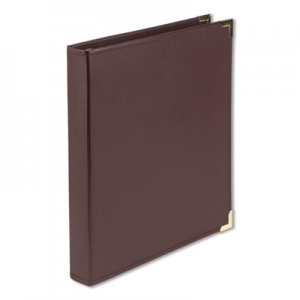"Samsill Classic Collection Ring Binder, 11 x 8 1/2, 1"" Cap, Burgundy SAM15134 15134"