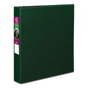 "Avery Durable Non-View Binder with DuraHinge and Slant Rings, 3 Rings, 1.5"" Capacity, 11 x 8.5, Green"