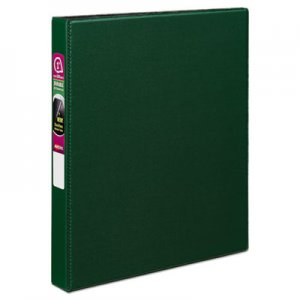 "Avery Durable Non-View Binder with DuraHinge and Slant Rings, 3 Rings, 1"" Capacity, 11 x 8.5, Green AVE27253"