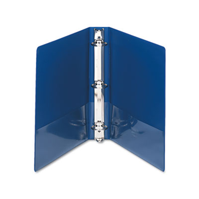 "Samsill Clean Touch Locking Round Ring Reference Binder, Antimicrobial, 1.5"" Cap, Blue SAM14352 14352"