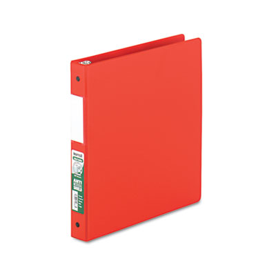 "Samsill Clean Touch Locking Round Ring Reference Binder, Antimicrobial, 1"" Cap, Red SAM14333 14333"
