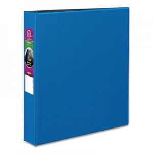 "Avery Durable Non-View Binder with DuraHinge and Slant Rings, 3 Rings, 1.5"" Capacity, 11 x 8.5, Blue"