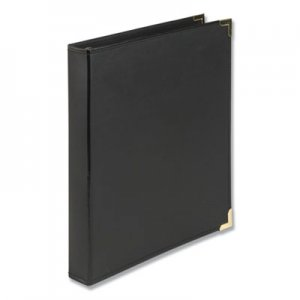 "Samsill Classic Collection Ring Binder, 11 x 8 1/2, 1"" Cap, Black SAM15130 15130"
