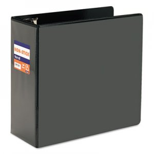"Samsill Nonstick D-Ring View Binder, 3 Rings, 5"" Capacity, 11 x 8.5, Black SAM16400 16400"