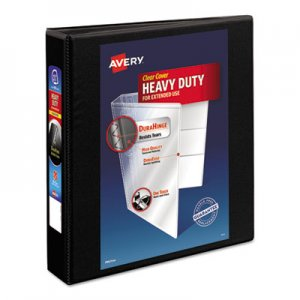 "Avery Heavy-Duty Non Stick View Binder with DuraHinge and Slant Rings, 3 Rings, 1.5"" Capacity, 11 x 8"