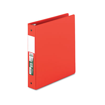 "Samsill Clean Touch Locking Round Ring Reference Binder, Antimicrobial, 1 1/2"" Cap, Red SAM14353 14353"