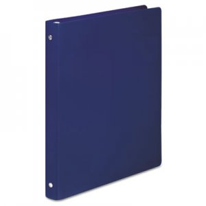 "Wilson Jones HIDE Poly Round Ring Binder, 23-pt. Cover, 1/2"" Cap, Dark Blue ACC39702 A7039702A"