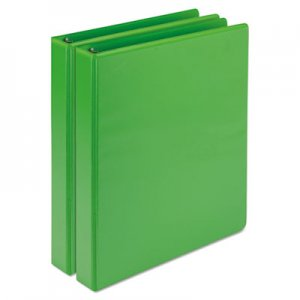 "Samsill Fashion View Binder, Round Ring, 11 x 8-1/2, 1"" Capacity, Lime, 2/Pack SAMU86378 U86378"