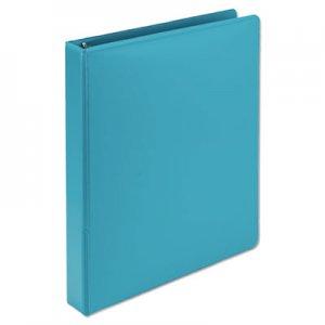 "Samsill Fashion View Binder, Round Ring, 11 x 8-1/2, 1"" Capacity, Turquoise, 2/Pack SAMU86377 U86377"