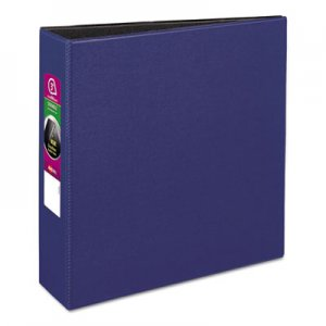 "Avery Durable Non-View Binder with DuraHinge and Slant Rings, 3 Rings, 3"" Capacity, 11 x 8.5, Blue AVE27651"