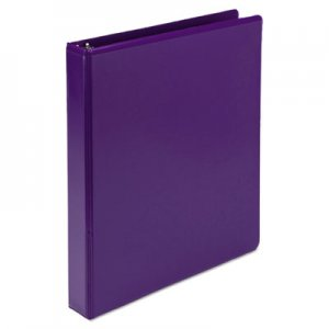 "Samsill Fashion View Binder, Round Ring, 11 x 8-1/2, 1"" Capacity, Purple, 2/Pack SAMU86308 U86308"