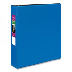 "Avery Durable Non-View Binder with DuraHinge and Slant Rings, 3 Rings, 2"" Capacity, 11 x 8.5, Blue AVE27551"