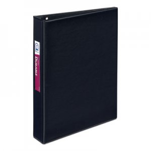 "Avery Mini Durable Binder with Round Rings, 5 1/2 x 8 1/2, 1"" Capacity, Black AVE27257 27257"