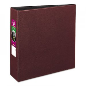 "Avery Durable Non-View Binder with DuraHinge and Slant Rings, 3 Rings, 3"" Capacity, 11 x 8.5, Burgundy AVE27652"