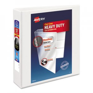 "Avery Heavy-Duty Non Stick View Binder w/Slant Rings, 2"" Cap, White AVE05504 05504"
