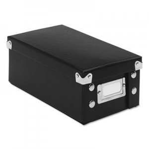 Snap-N-Store Collapsible Index Card File Box, Holds 1,100 3 x 5 Cards, Black IDESNS01573 SNS01573