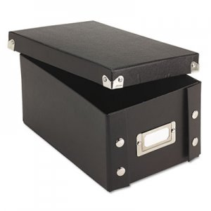 Snap-N-Store Collapsible Index Card File Box, Holds 1,100 4 x 6 Cards, Black IDESNS01577 SNS01577