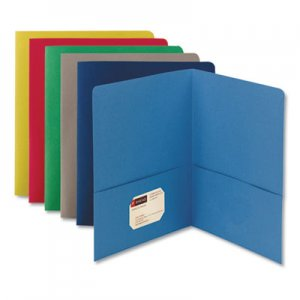 Smead Two-Pocket Folder, Textured Paper, Assorted, 25/Box SMD87850 87850