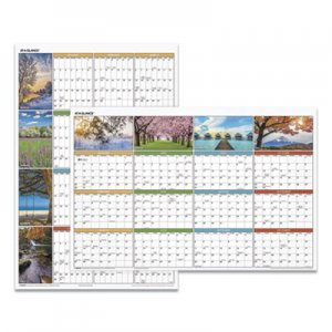 At-A-Glance Seasons in Bloom Vertical/Horizontal Erasable Wall Planner, 24 x 36, 2021 AAGPA133 PA133
