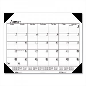 House of Doolittle Recycled One-Color Refillable Monthly Desk Pad Calendar, 22 x 17, 2019 HOD124 124-02