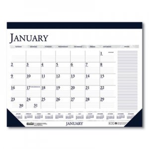 House of Doolittle Recycled Two-Color Monthly Desk Pad Calendar with Large Notes Section, 22 x 17, 2021 HOD164 164