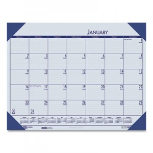 House of Doolittle Recycled EcoTones Ocean Blue Monthly Desk Pad Calendar, 18 1/2 x 13, 2019 HOD124640 1246-40