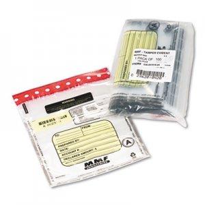 MMF Industries Tamper-Evident Deposit/Cash Bags, Plastic, 9 x 12, Clear, 100 Bags/Box MMF2362010N20 2362010N20