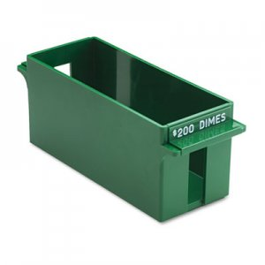 MMF Industries Porta-Count System Extra-Capacity Rolled Coin Plastic Storage Tray, Green MMF212071002 212071002
