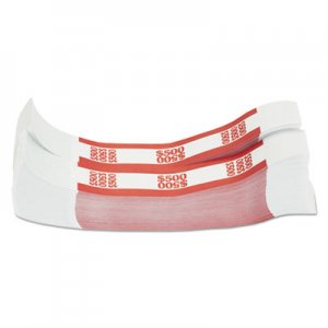 Pap-R Products Currency Straps, Red, $500 in $5 Bills, 1000 Bands/Pack CTX400500 400500