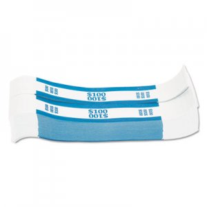 Coin-Tainer Currency Straps, Blue, $100 in Dollar Bills, 1000 Bands/Pack CTX400100 216070C08