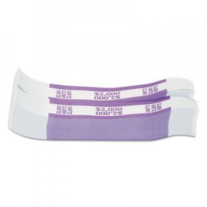 Coin-Tainer Currency Straps, Violet, $2,000 in $20 Bills, 1000 Bands/Pack CTX402000 216070H19