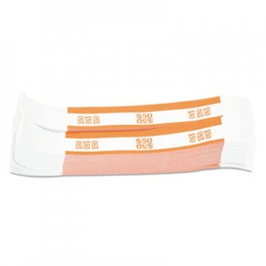 Pap-R Products Currency Straps, Orange, $50 in Dollar Bills, 1000 Bands/Pack CTX400050 400050