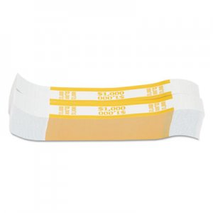 Pap-R Products Currency Straps, Yellow, $1,000 in $10 Bills, 1000 Bands/Pack CTX401000 401000