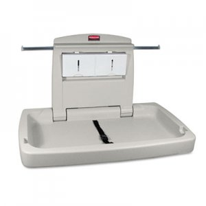 Rubbermaid Commercial Sturdy Station 2 Baby Changing Table, 33.5 x 21.5, Platinum RCP781888 FG781888LPLAT