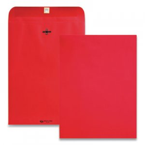 Quality Park Clasp Envelope, #90, Cheese Blade Flap, Clasp/Gummed Closure, 9 x 12, Red, 10/Pack QUA38734