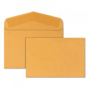 Quality Park Open-Side Booklet Envelope, #15, Hub Flap, Gummed Closure, 10 x 15, Brown Kraft, 100/Box QUA54301