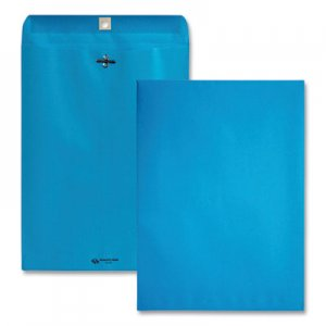 Quality Park Fashion Color Clasp Envelope, 9 x 12, 28lb, Blue, 10/Pack QUA38737
