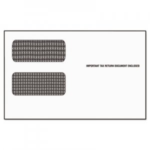 TOPS 1099 Double Window Envelope, Commercial Flap, Self-Adhesive Closure, 5.63 x 9.5, White, 24/Pack TOP2222ES 2222ES