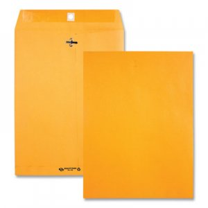 Quality Park Clasp Envelope, #97, Cheese Blade Flap, Clasp/Gummed Closure, 10 x 13, Brown Kraft, 100/Box QUA38197