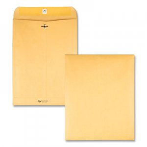Quality Park Clasp Envelope, #12 1/2, Cheese Blade Flap, Clasp/Gummed Closure, 9.5 x 12.5, Brown Kraft