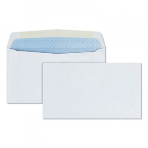 Quality Park Business Envelope, #6 3/4, Commercial Flap, Gummed Closure, 3.63 x 6.5, White, 500/Box QUA10412
