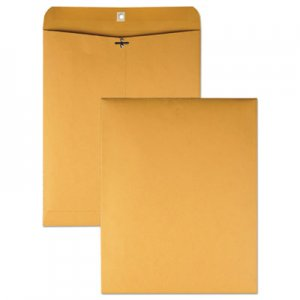Quality Park Clasp Envelope, 11 1/2 x 14 1/2, 32lb, Brown Kraft, 100/Box QUA37805